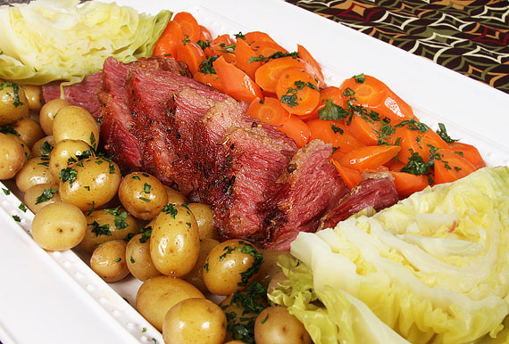 ... potatoes and brocolli and carrots braised brisket with potatoes and